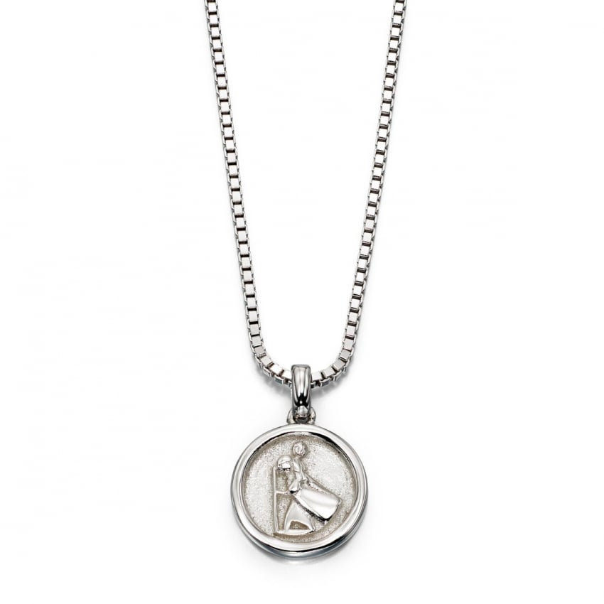 Little Star Children's Silver St Christopher Necklace LSN0042