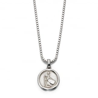 Children's Silver St Christopher Necklace