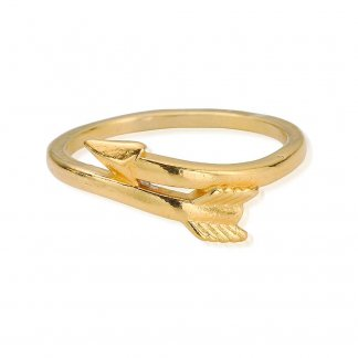 Girl's Cherish Gold Plated Arrow Ring GRCHE1254