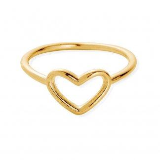 Girl's Cherish Gold Plated Heart Ring GRCHE1261