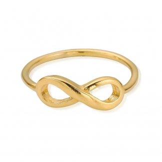 Girl's Cherish Gold Plated Infinity Ring GRCHE3255