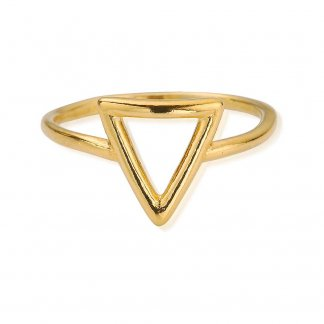 Girl's Cherish Gold Plated Triangle Ring GRCHE1253
