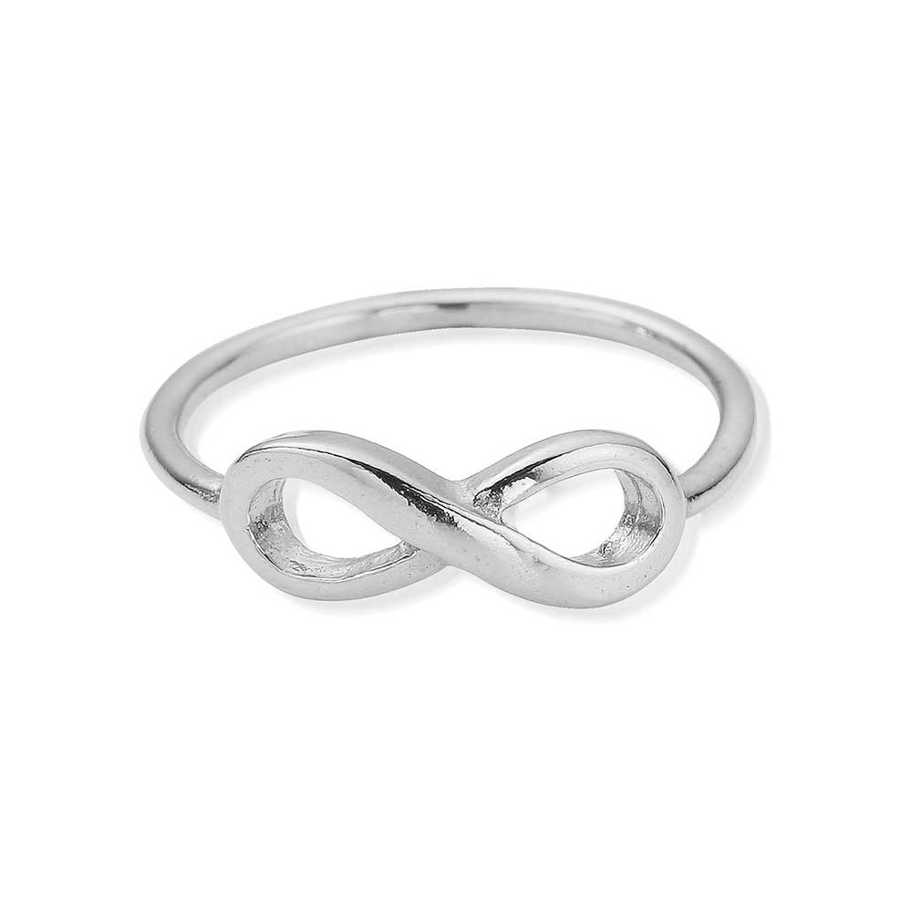 cz ring sterling silver infinity p with