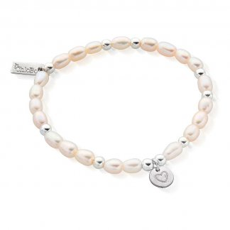 Iconic Mini Heart In Circle Pearl Bracelet SBPED009