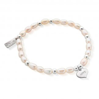 Iconic Mini Love Heart Pearl Bracelet SBPED204