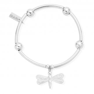 Iconic Silver Tube Dragonfly Bracelet NBA16