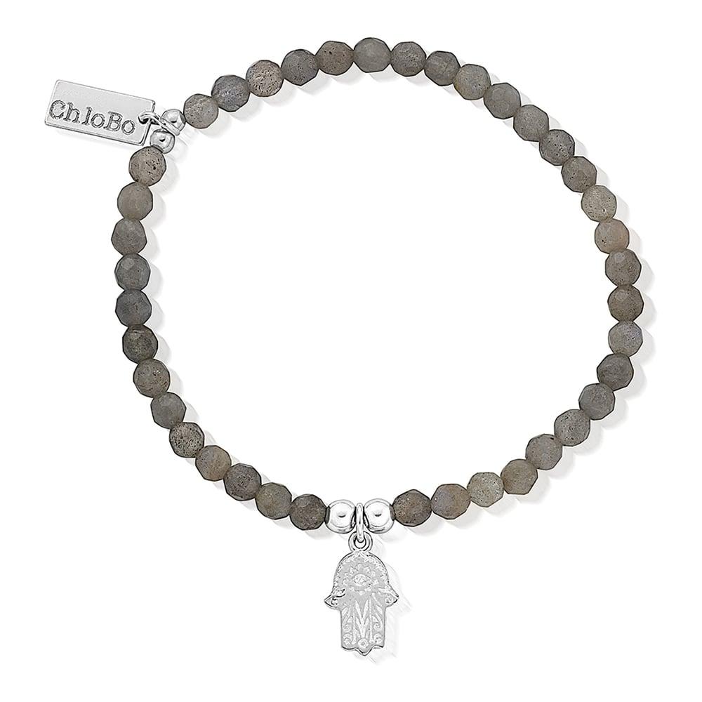 ChloBo Labradorite Fancy Hamsa Hand Bracelet
