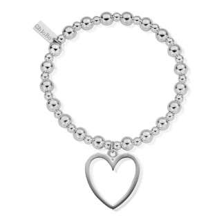 Mini Small Ball Open Heart Bracelet SBMSB033