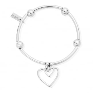 Noodle Ball Double Open Heart Bracelet SBNB007028