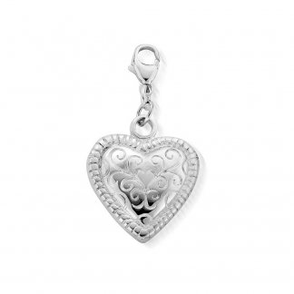 Scallop Heart Starry Eyes Pendant SPPEN014