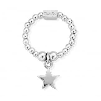 Silver Mini Star Stretch Ring SRM2806