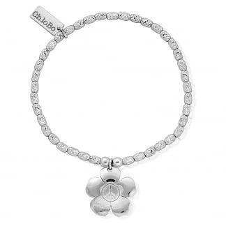 Sparkle Peace Flower Charm Bracelet SBSR139