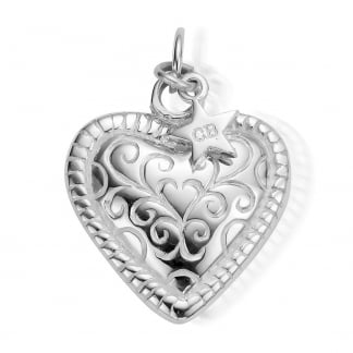 Sterling Silver Heart Detail Pendant