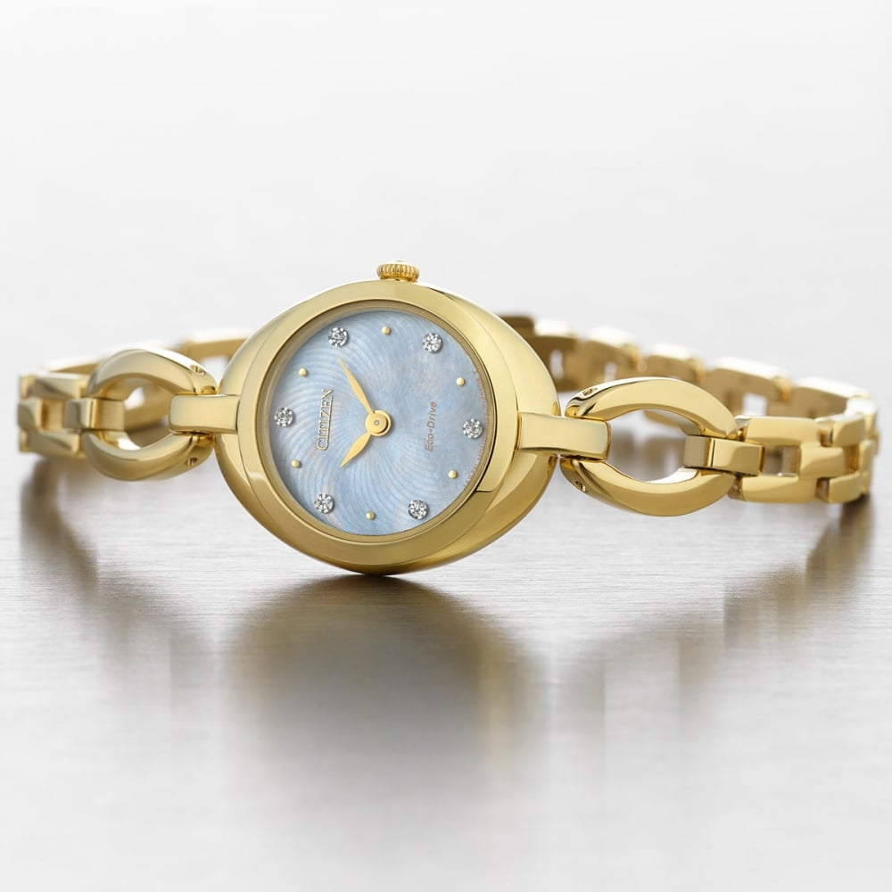 bracelet dial gold chain ladies watch image crystals watches sunray champagne white guess