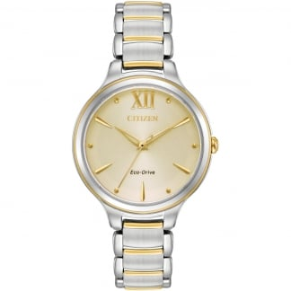 Ladies Circle of Time Rose Gold Eco-Drive Watch