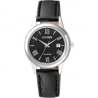 Ladies Classic Black Leather Dress Watch FE1081-08E