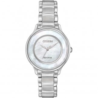 Ladies Circle Of Time Mother of Pearl Eco-Drive Watch EM0380-81D