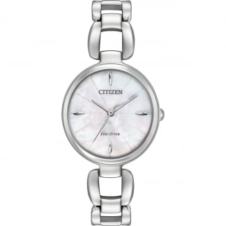 Ladies Mother of Pearl Steel L Collection Watch EM0420-54D
