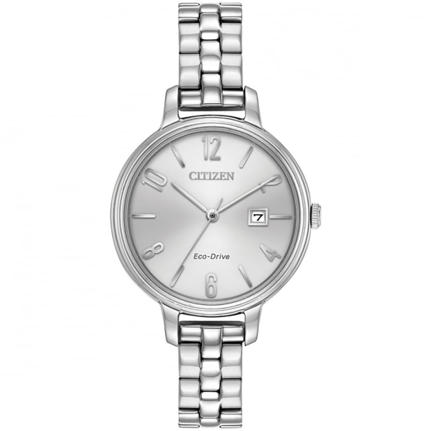 Citizen Ladies Steel Eco-Drive Silhouette Watch EW2440-53A