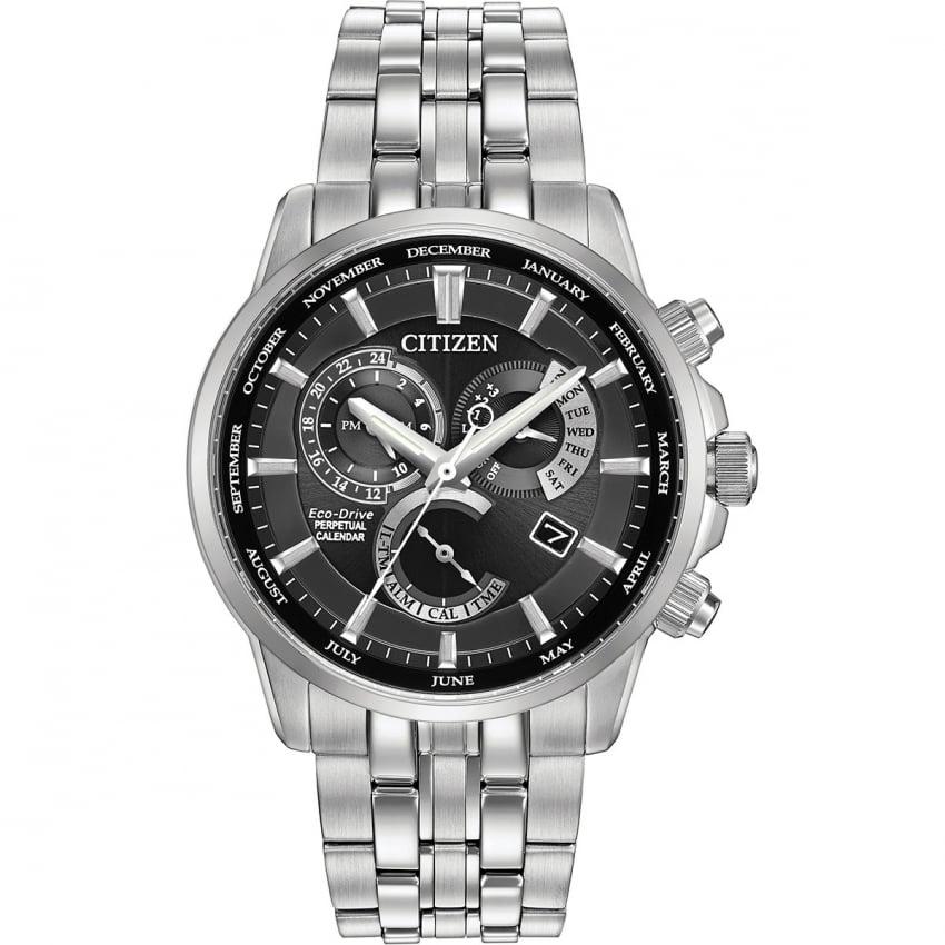 Citizen Men's Black Dial Calibre 8700 Perpetual Calendar Watch BL8140-55E