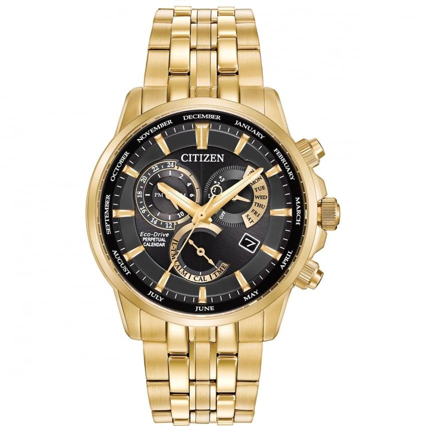 Citizen Men's Gold PVD Calibre 8700 Perpetual Calendar Watch BL8142-50E