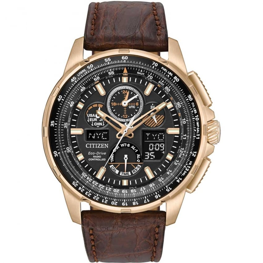 Citizen Men's Rose Gold Limited Edition Skyhawk A-T Strap Watch JY8056-04E