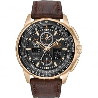 Men's Rose Gold Limited Edition Skyhawk A-T Strap Watch