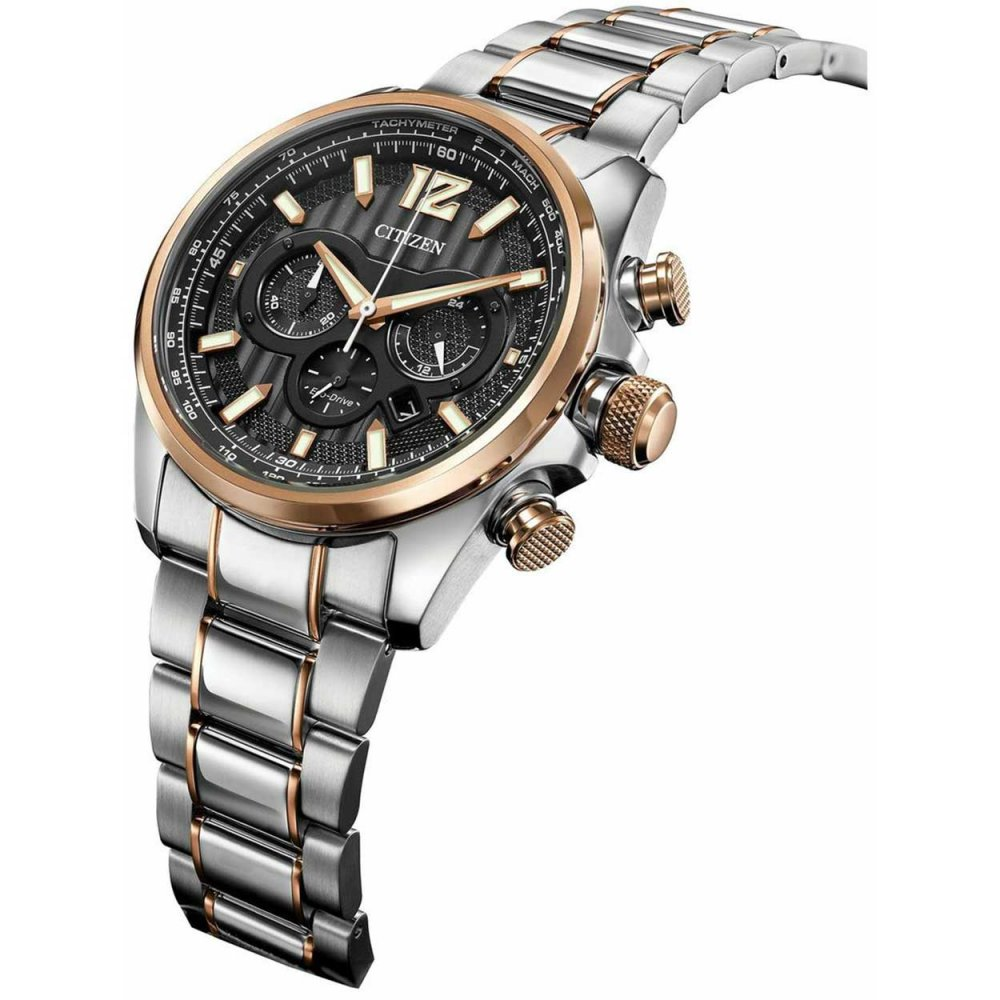 buy the men s citizen ca4176 55e watch francis gaye jewellers citizen men s shadowhawk steel rose gold eco drive watch ca4176 55e