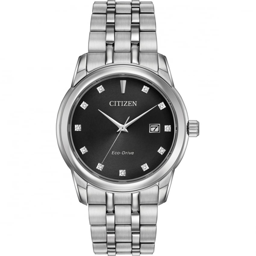 Citizen Men's Steel Diamond Set Eco-Drive Watch BM7340-55E
