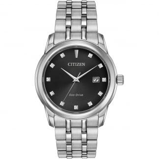 Men's Steel Diamond Set Eco-Drive Watch BM7340-55E
