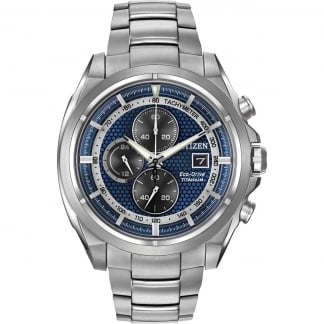 Men's Super Titanium Blue Dial Chronograph Watch CA0550-87L
