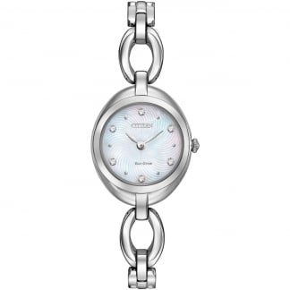 Silhouette Crystal Ladies Mother of Pearl Watch