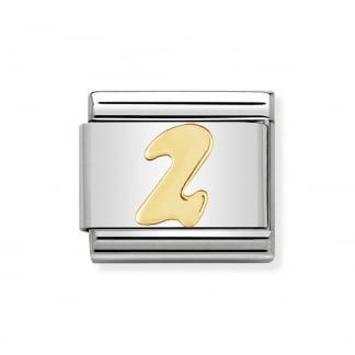 Classic 18ct Gold Number '2' Charm