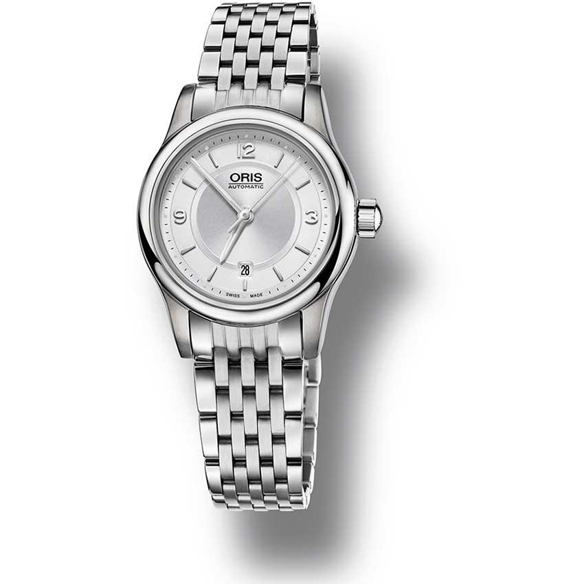 oris classic date automatic steel bracelet