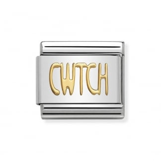 Classic Gold 'CWTCH' Charm