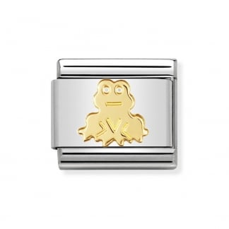 Classic Gold Nature Frog Charm