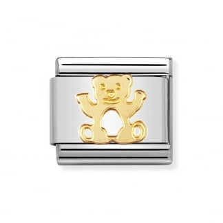 Classic Gold Nature Teddy Bear Charm