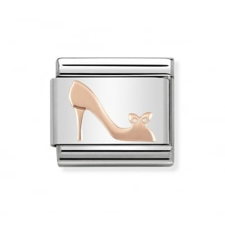 Classic Steel and Rose Gold High Heel Charm