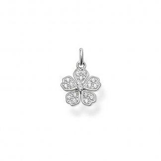 Clear CZ Small Flower Pendant