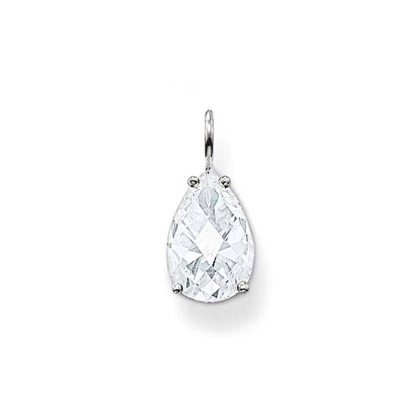 Thomas Sabo Clear Faceted Tear Drop Pendant PE523-051-14