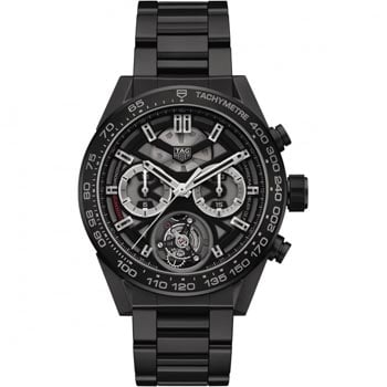 Men's TAG Heuer Carrera HEUER-02T Ceramic Tourbillon Watch - View Now