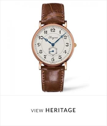 View the Longines Heritage Watch Collection