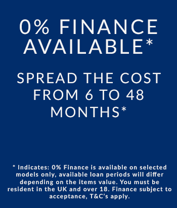 0% Finance Available on Selected Models - T&C's Apply