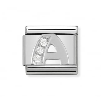 Composable Silvershine Initial 'A' Charm