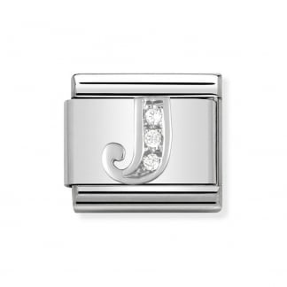 Composable Silvershine Initial 'J' Charm