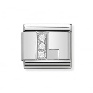 Composable Silvershine Initial 'L' Charm