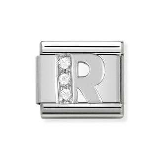 Composable Silvershine Initial 'R' Charm