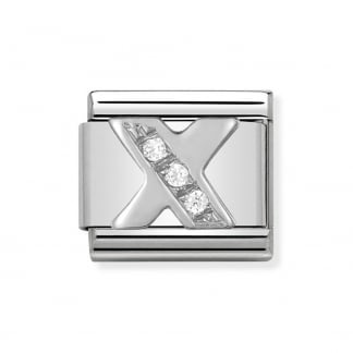 Composable Silvershine Initial 'X' Charm