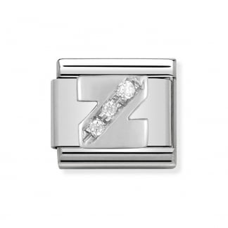 Composable Silvershine Initial 'Z' Charm