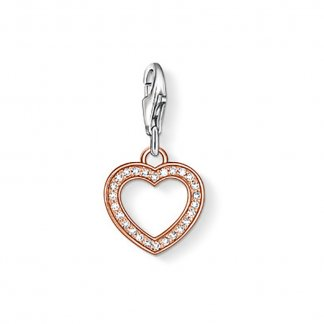 Crystal Set Rose Gold Heart Charm 0953-416-14